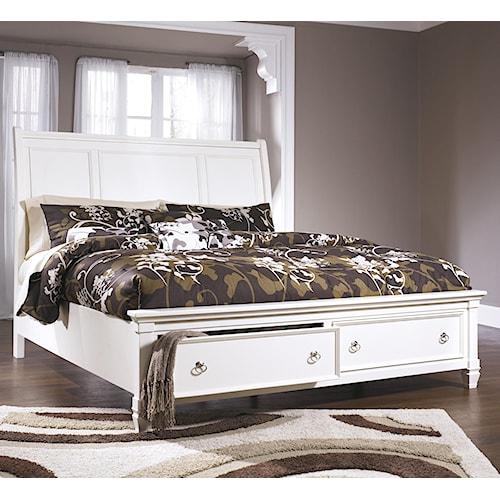 Prentice Sleigh Storage Bed