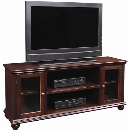 aspenhome casual traditional 61 inch television console. Black Bedroom Furniture Sets. Home Design Ideas