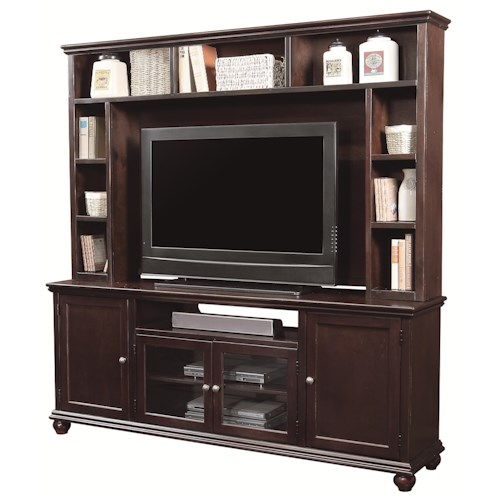 Aspenhome casual traditional 76quot transitional tv console for Traditional wall units