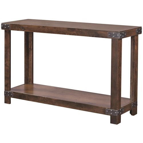 Aspenhome Industrial Sofa Table With Shelf Becker Furniture World Sofa Table Twin Cities