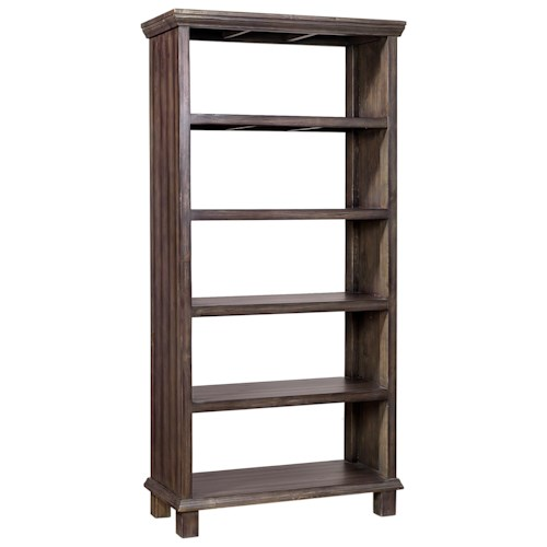 Aspenhome preferences room divider with 5 fixed shelves - Open bookcase room divider ...