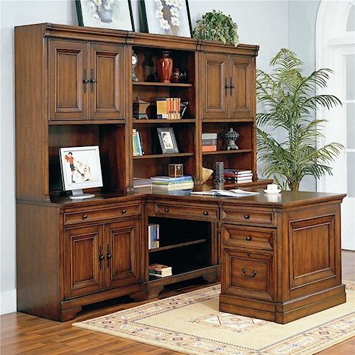 Modular Peninsula Desk Wall Richmond By Aspenhome Wilcox Furniture L Shape Desk Corpus