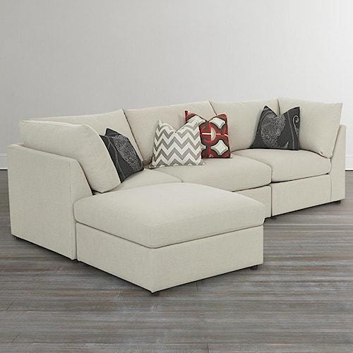 Bassett beckham 3974 custom l shaped modular sectional for The best furniture in the world