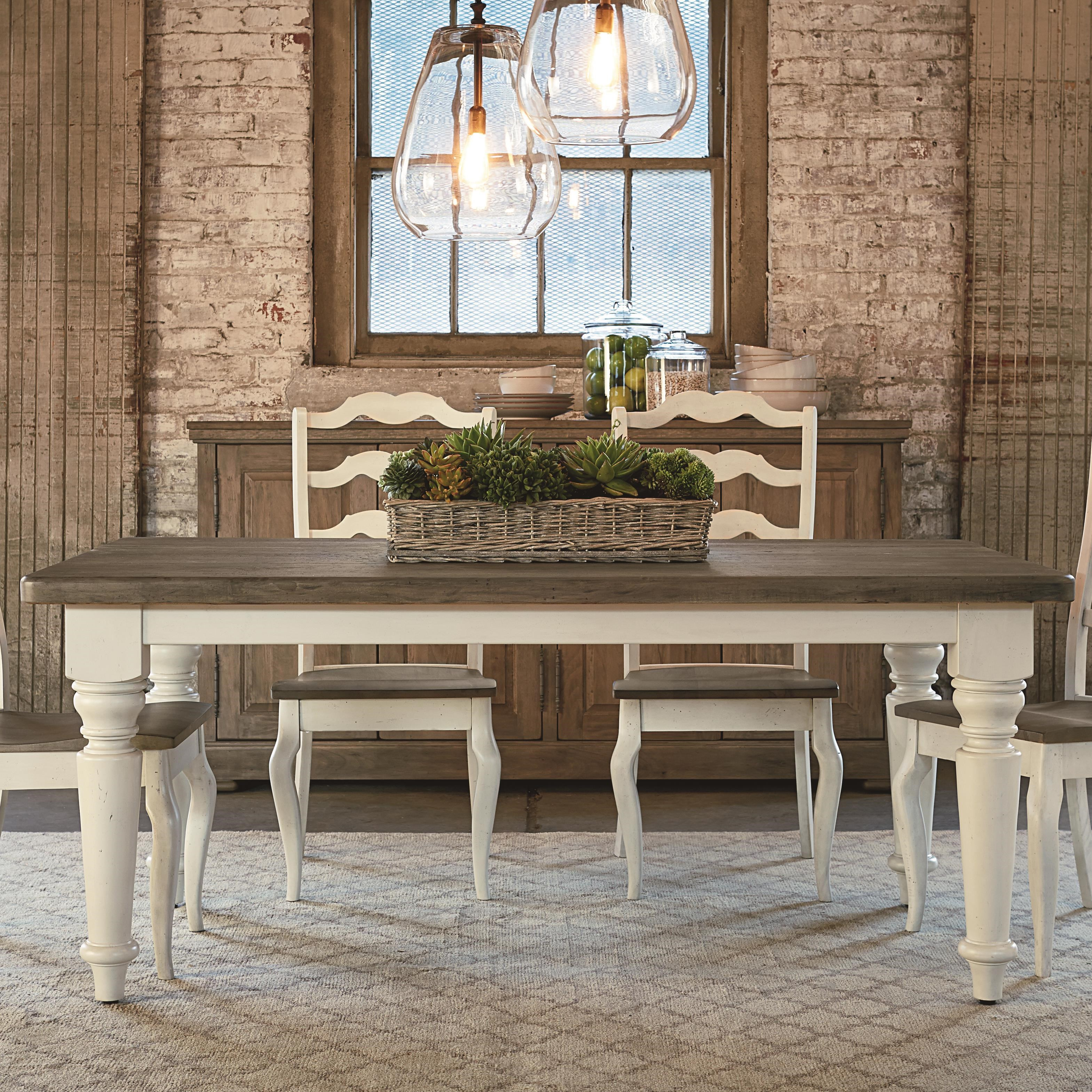 Bassett Bench Made 72u0026quot; Farmhouse Table : Hudsonu0026#39;s Furniture : Dining Room Table Tampa, St ...