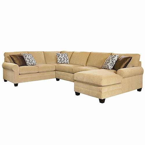 Bassett Cu 2 U Shaped Stationary Sectional Group Wayside Furniture Sofa Sectional