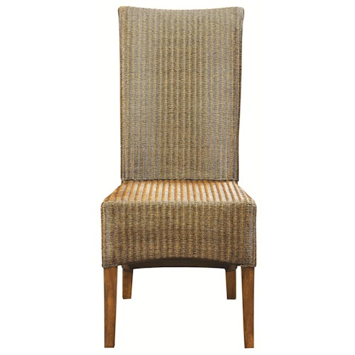 bassett custom dining 4469 woven loom side chair fashion