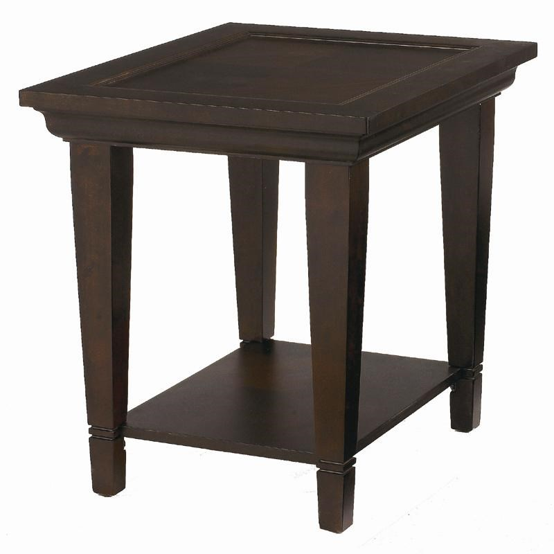 Bassett Easton Wood End Table with Shelf Dunk & Bright