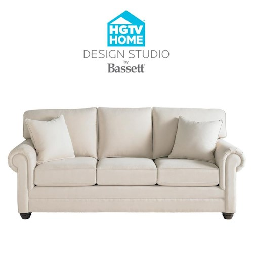 Bassett hgtv home design studio customizable queen sofa for Design studio sectional sofa