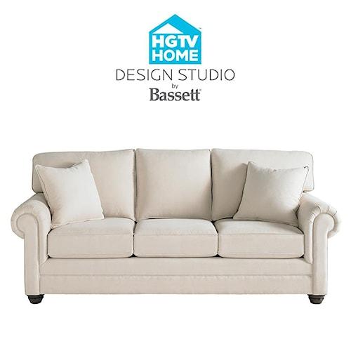 Bassett Hgtv Home Design Studio Customizable Large Sofa Great American Home Store Sofa
