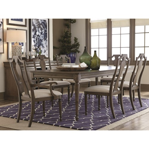 Bassett Provence Formal Dining Table And Chair Set Dunk Bright Furnit