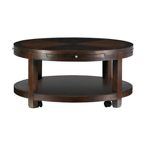 Bassett Redin Park Round Cocktail Table With Casters Sprintz Furniture Cocktail Coffee