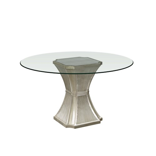 Bassett mirror hollywood glam vanesta dining table for Glam dining table
