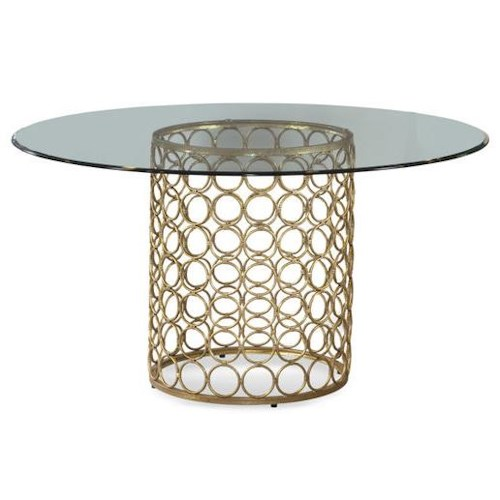 Bassett mirror midcentury modern round table hudson 39 s for Mid century modern furniture orlando