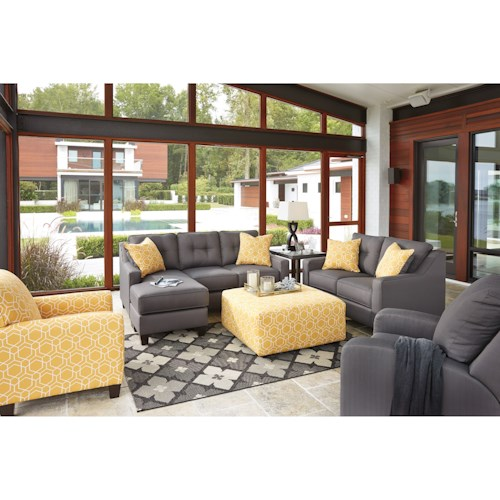 Benchcraft Aldie Nuvella Stationary Living Room Group Dunk Bright Fur