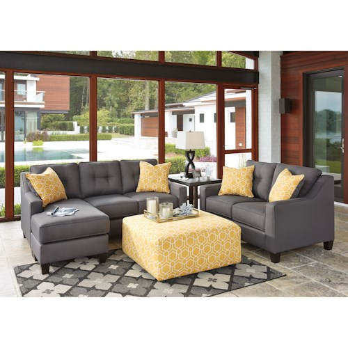 Benchcraft aldie nuvella stationary living room group for Living room group sets
