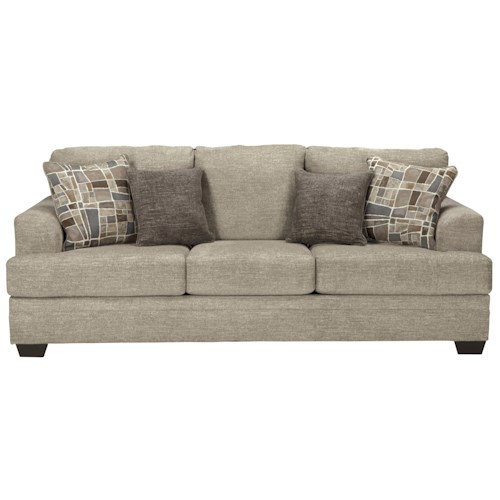 Benchcraft barrish contemporary sofa with flared arms for Michaels craft store erie pa