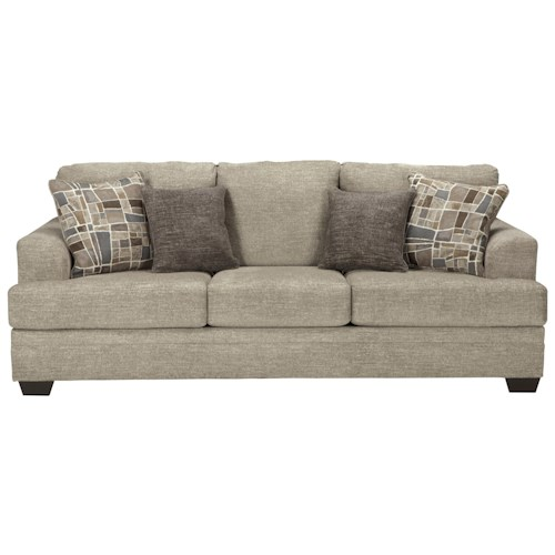 Jcpenney Furniture Outlet Ohio: Benchcraft Barrish Contemporary Queen Sofa Sleeper With