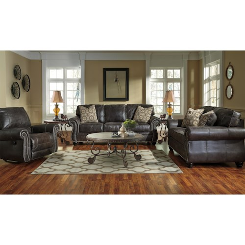 Benchcraft Breville Stationary Living Room Group Dunk Bright Furnitur