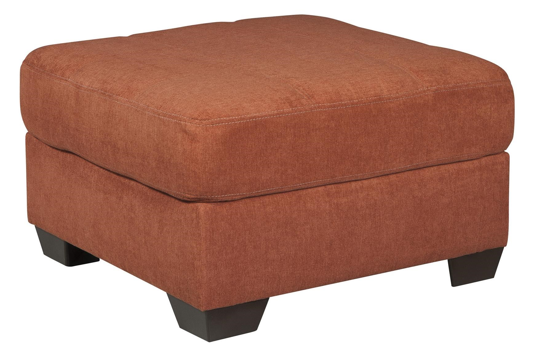 Benchcraft Delta City - Rust Contemporary Oversized Accent Ottoman - Ivan Smith Furniture - Ottoman