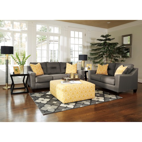 Benchcraft Forsan Nuvella Stationary Living Room Group Wayside Furniture