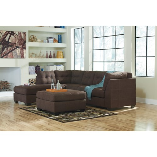 Benchcraft Maier Walnut Stationary Living Room Group Royal Furniture Upholstery Group