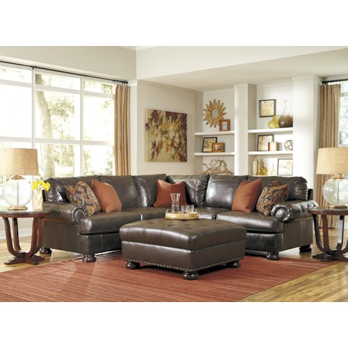 Benchcraft nesbit durablend stationary living room group for Durable living room furniture
