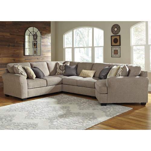Benchcraft Pantomine 4-Piece Sectional With Right Cuddler