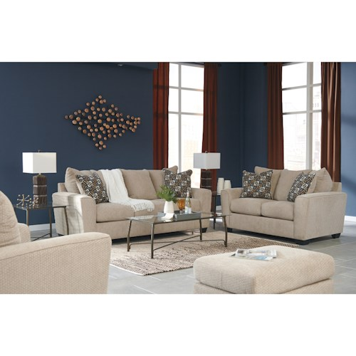 Benchcraft Wixon Stationary Living Room Group Value City Furniture Statio