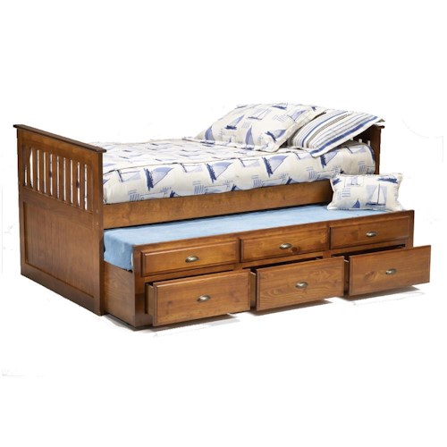 Bernards 3650 Twin Captain 39 S Bed With Trundle Drawers Wayside Furniture Captain 39 S Beds