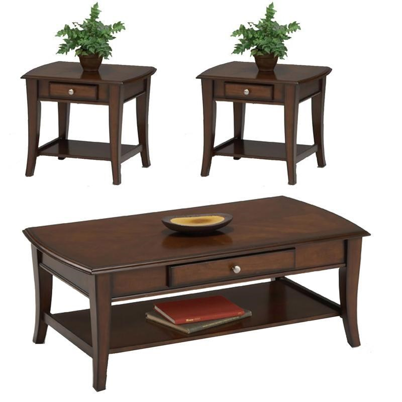 Bernards Broadway 3 Pc Cocktail Table & 2 End Table Group