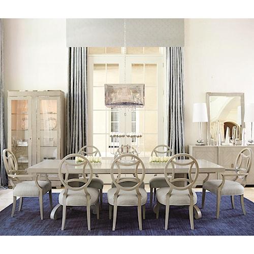 Bernhardt criteria piece dining set baer s furniture