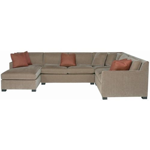 Bernhardt interiors kelsey 4 piece sectional with chaise for 4 piece sectional sofa with chaise