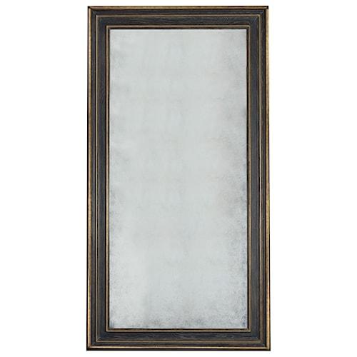 Bernhardt interiors quinn floor mirror with antiqued for Glass floor mirror