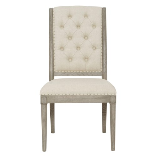Bernhardt Marquesa Side Chair With Button Tufting
