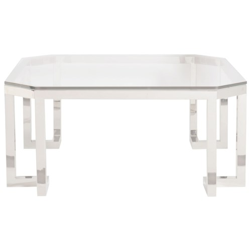 Bernhardt Merrill Square Cocktail Table With Glass Top