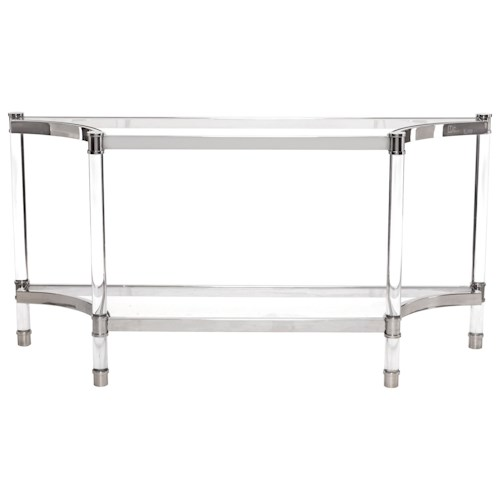 bernhardt soho luxe contemporary console table with glass. Black Bedroom Furniture Sets. Home Design Ideas