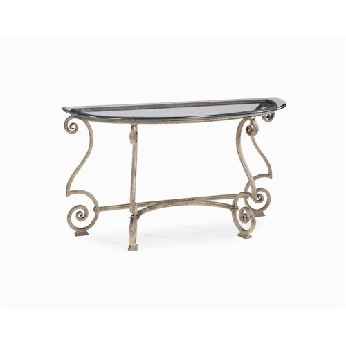 Bernhardt Solano Glass Top Console Table Wayside