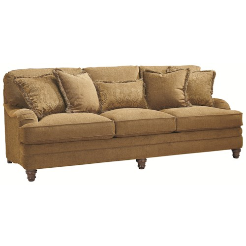 Bernhardt tarleton traditional styled stationary sofa for Furniture 0 down