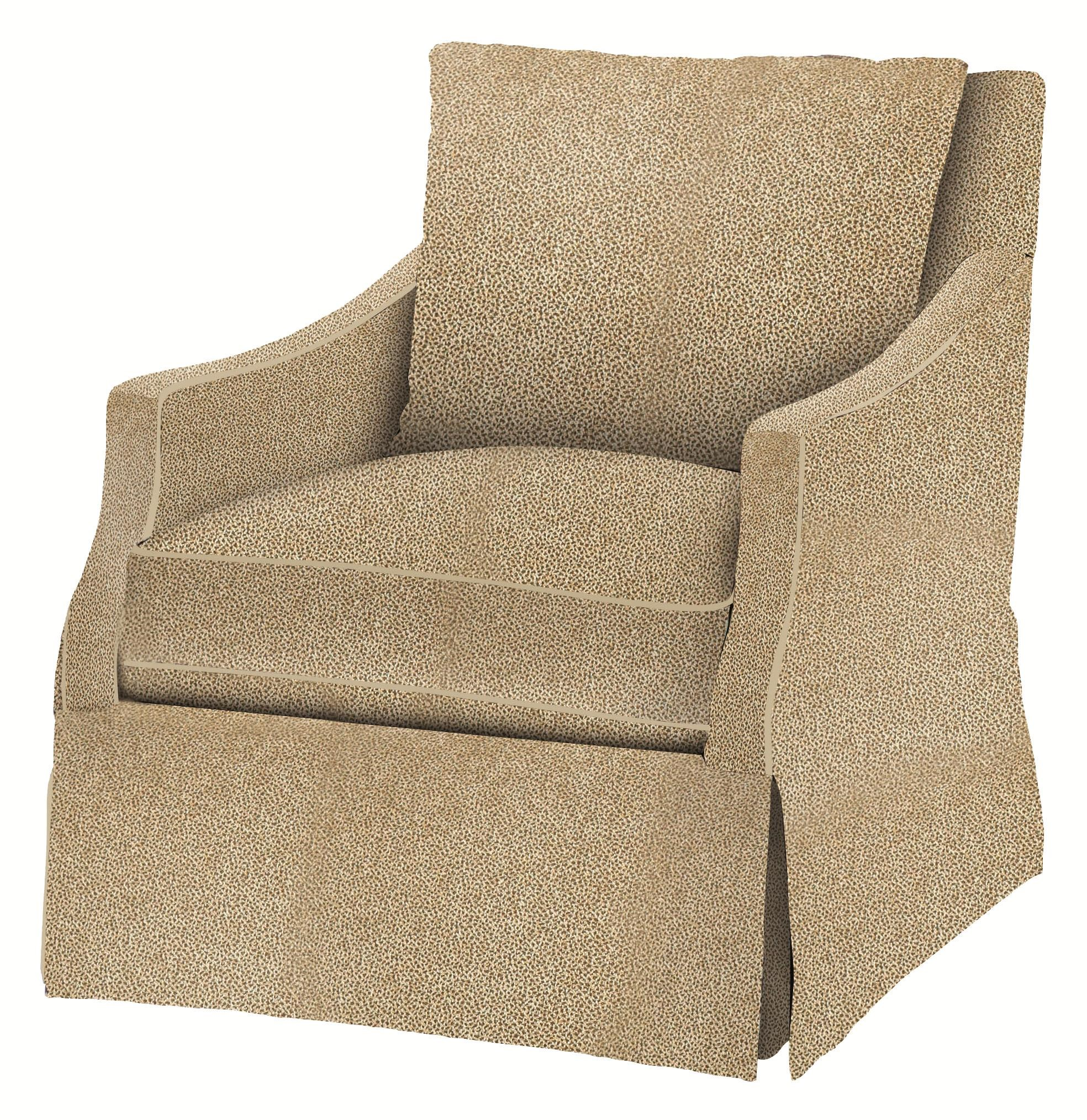 Bernhardt Upholstered Accents Reagan Swivel Chair With