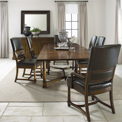 Bernhardt Vintage Patina 7 Piece Dining Set Baer 39 S Furniture Dining 7