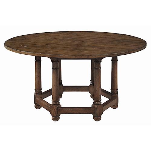 Bernhardt Vintage Patina 62 Round Dining Room Table