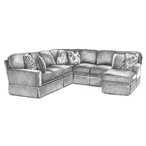 Best home furnishings annabel 5 pc sectional sofa hudson for 5 pc sectional sofas