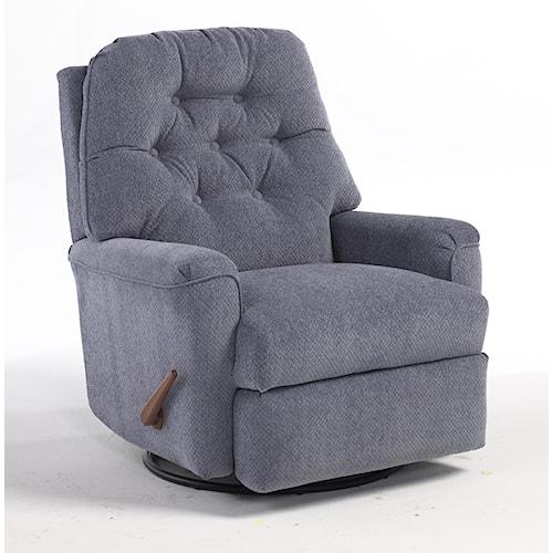 Best home furnishings recliners medium cara swivel for Furniture dealers