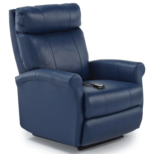 Best Home Furnishings Recliners Petite Power Lift Recliner With Rolled Arms Suburban
