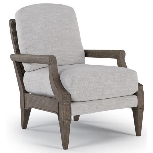 Best Home Furnishings Riley Accent Chair with Exposed Wood