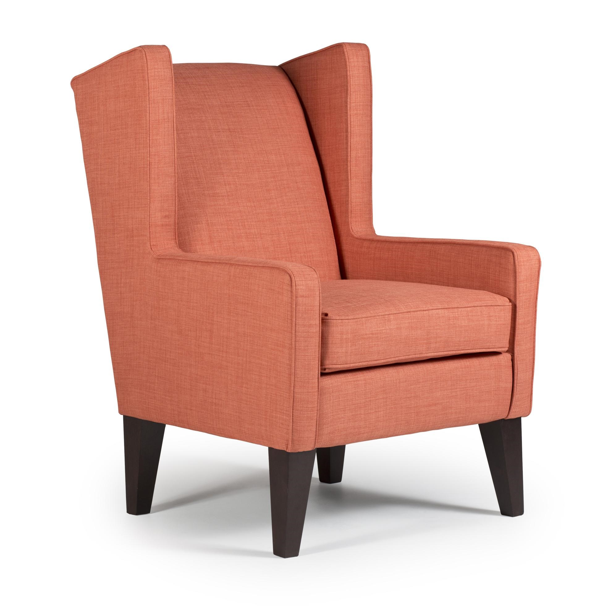 Best Home Furnishings Chairs Wing Back Karla Modern Wing