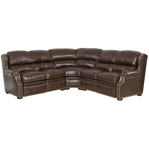 Bradington Young Reid Traditional Reclining Sectional Sofa