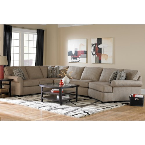 Broyhill Furniture Ethan Transitional Sectional Sofa With