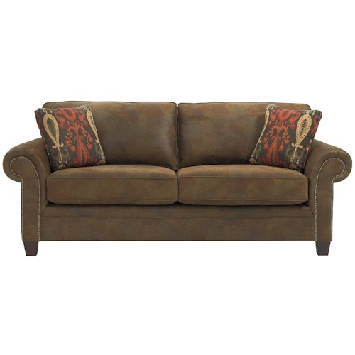 Broyhill furniture travis transitional queen irest sleeper for Transitional sectional sofa sleeper