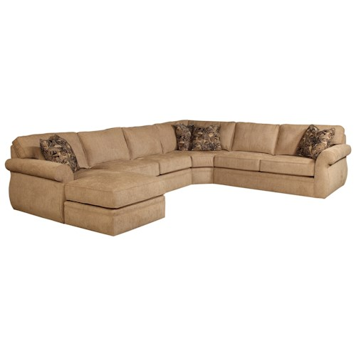 Broyhill furniture veronica chaise sectional baer 39 s for Broyhill caitlyn chaise